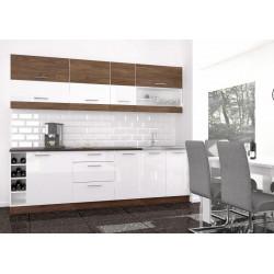 **Kuchyně MODO 260 vintage marine/bílý lesk
