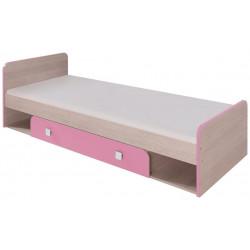 DUO D9 postel 80x200 cm santana/růžová