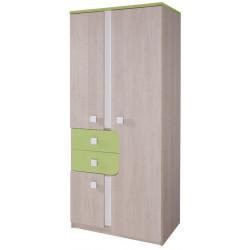 **DUO D1 šatní skříň santana/zelená