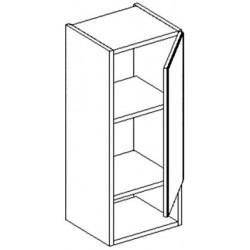 W30PD h. skříňka s regálem BALI bílá/ořech pravá