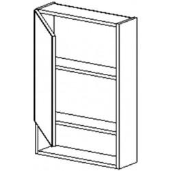 W50PD h. skříňka se zrcadlem BALI bílá/ořech levá