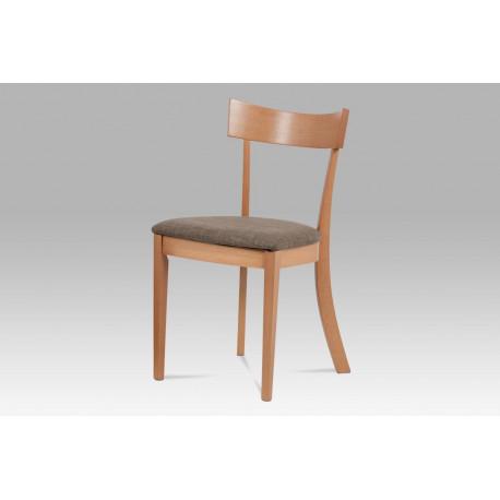 Jídelní židle, barva buk, potah krémový BC-3333 BUK3