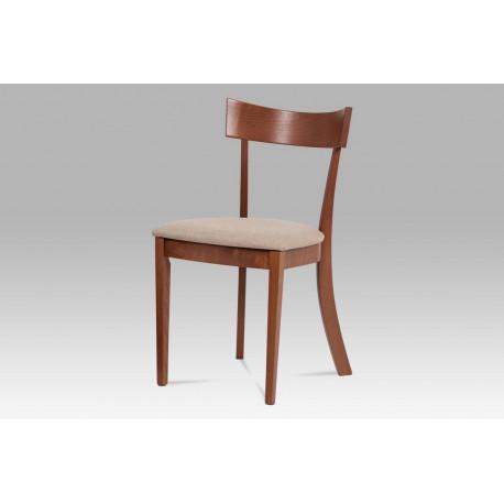 Jídelní židle, barva třešeň, potah krémový BC-3333 TR3
