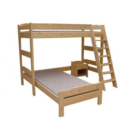 Patrová postel nerozkládací přízemí do L NI SMRK