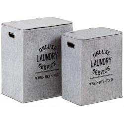 Koš na špinavé prádlo z plsti, sada 2 kusů KD02