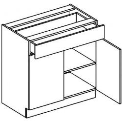 *D80/S1 dolní skříňka se zásuvkou MORENO grafit bis