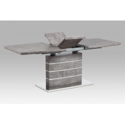 Dining table 160/200x90x76cm, MDF with stone paper 78054, base brushed stainless steel HT-302 BET