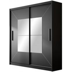 Šatní skříň BOSTON 203 černá