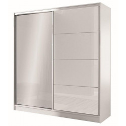 Šatní skříň WIKA 203 bílá/bílá