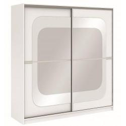 Šatní skříň MEDIOLAN 203 bílá/bílá