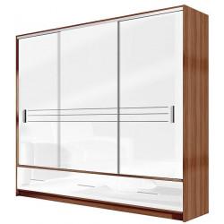 Šatní skříň AMSTERDAM 250 bílá