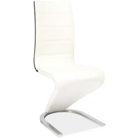 **Jídelní čalouněná židle H-134 bílá/černá
