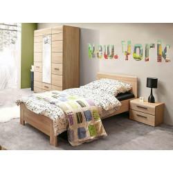**Ložnice SOLO (postel 90, skříň 3D2S, noční stolek) sonoma