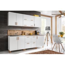 Kuchyně LAHTI 220 bílá/buk