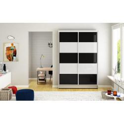 Šatní skříň MONNTANA III bílá/černá