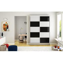 Šatní skříň MONNTANA II bílá/černá