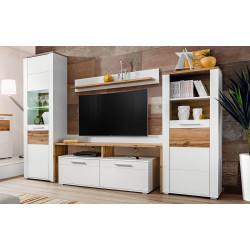 Obývací stěna STENA bílá/dub wotan