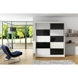 Šatní skříň VITTO II bílá/černá