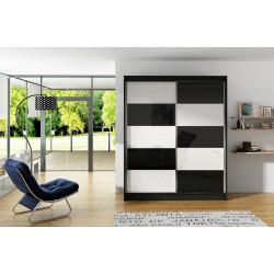 Šatní skříň VITTO II černá/bílá