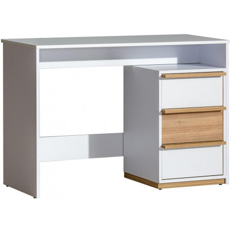 EVADO E14 pracovní stůl bílá/ořech