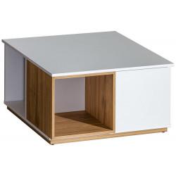 EVADO E13 konferenční stolek bílá/ořech