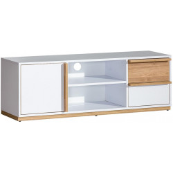 EVADO E4 tv stolek bílá/ořech