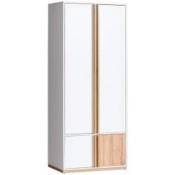 EVADO E1 šatní skříň bílá/ořech