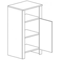 D45 d. skříňka TALIA duglaska/bílá pravá