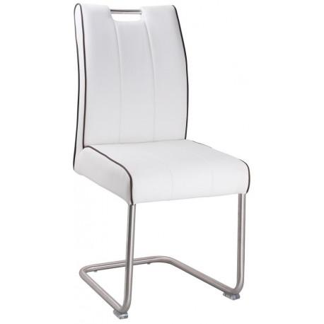 *Jídelní čalouněná židle LEVANTO-754 bílá/ocel