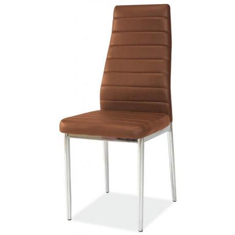 *Jídelní čalouněná židle HRON-261 hnědá/chróm