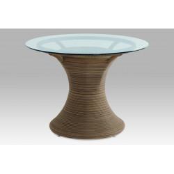 Jídelní stůl, umělý ratan BEZ SKLA SOF048