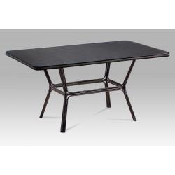 Zahradní stůl, kov hnědý, textil černý AZT-112 BK