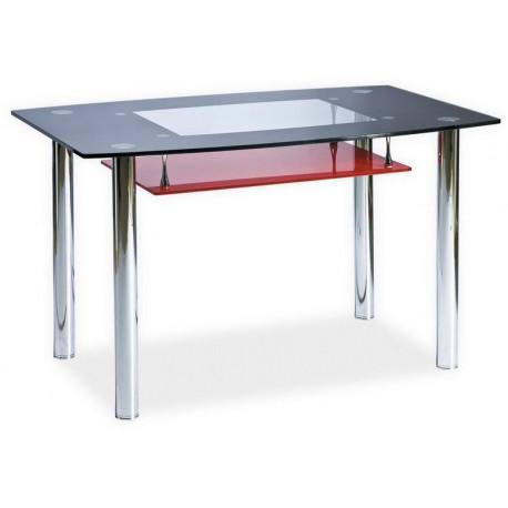 **Jídelní stůl TWIST A červená polička