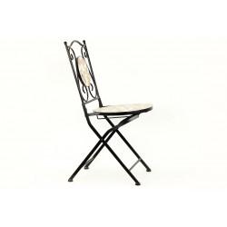 Židle kovová s mozajkou - stejnou jako je u stolu JF2206 JF2207