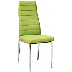 *Jídelní čalouněná židle HRON-261 zelená/chróm