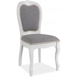 Jídelní čalouněná židle PR-SC šedá/bílá