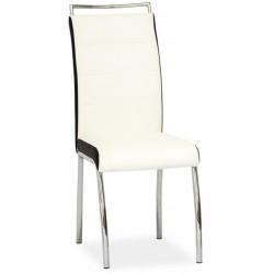 Jídelní čalouněná židle H-442 bílá/černá