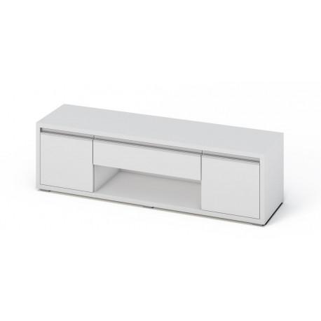 Televizní stolek SOLETO bílá/bílý lesk
