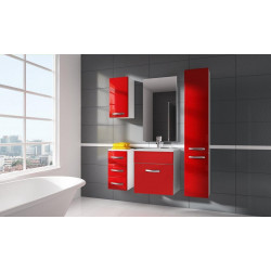 Koupelnová sestava CORAL II set 2 červená