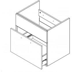 DUM D60S1 skříňka pod umyvadlo CORAL II bílá