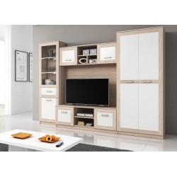 Obývací stěna SORA světlá sonoma/bílá