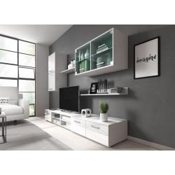 Obývací stěna VARESA bílá/bílý lesk