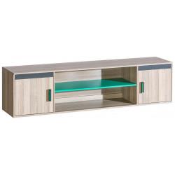 Závěsná skříňka ULTTIMO U17 jasan/zelená