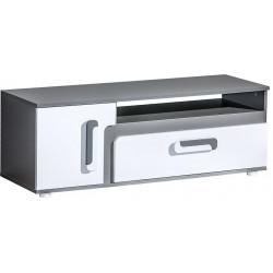 Tv stolek APETTITA 17 antracit/bílá