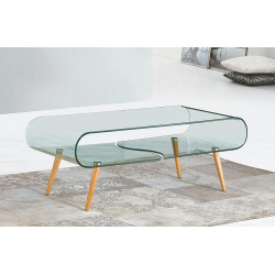 Konferenční stolek CRISTAL buk/sklo