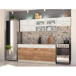 Kuchyně Moreno III 240 dub kraft bílý/zlatý