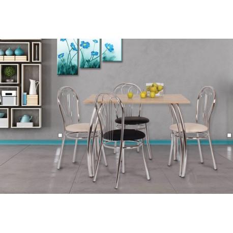 Jídelní stůl DAKO II.,chrom.nohy 80x100