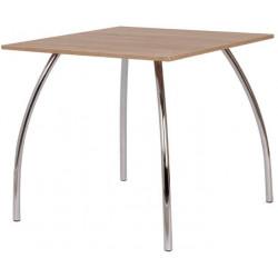 Jídelní stůl DAKO I.,chrom.nohy 80x80