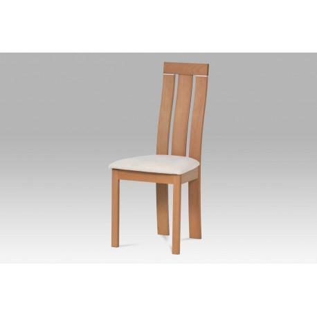Jídelní židle masiv buk, barva buk, potah krémový