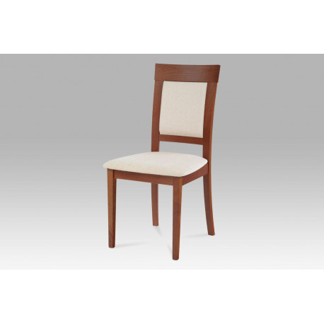 Jídelní židle, třešeň, potah krémový